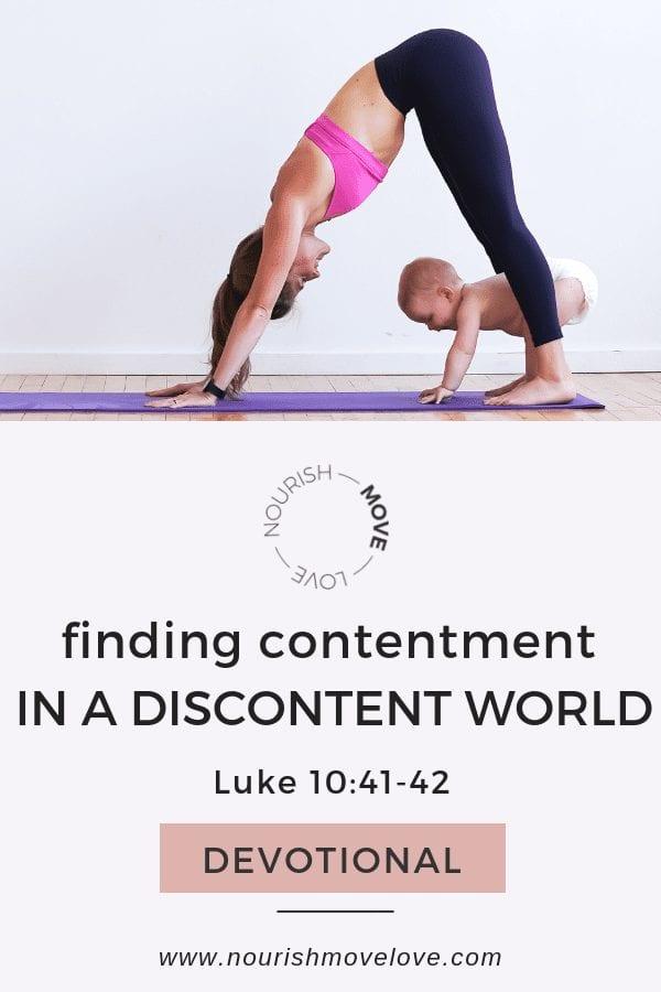 Contentment prayer - a prayer for finding contentment   Luke 10:41-42   Bible Study