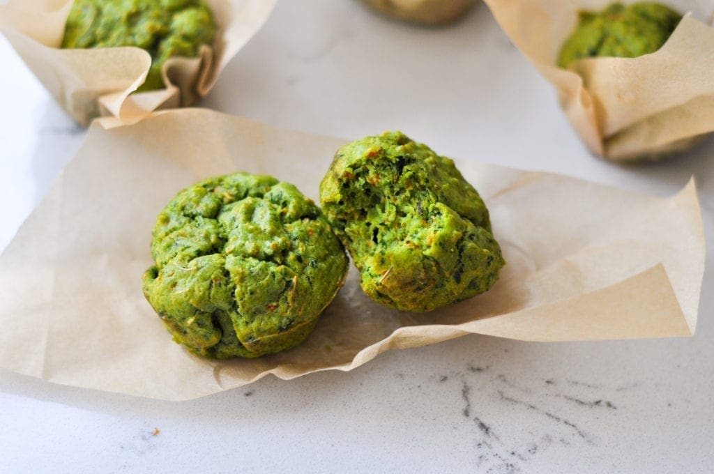 Savory Spinach Muffins | healthy toddler meal ideas | Veggie Muffins | Meal Prep Muffins