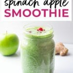 Holiday Detox Smoothie Recipe | Spinach Apple Smoothie
