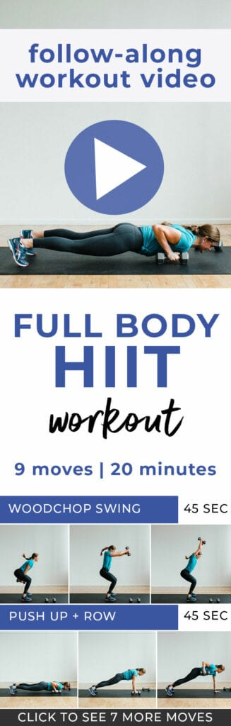 Full Body Workout | HIIT Workout for Women | 20-Minute Workout Video | 20-Minute HIIT Workout Video | Full Body HIIT