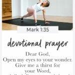 Devotional prayer: discipline for prayer   Morning Routine   Bible Study for Women