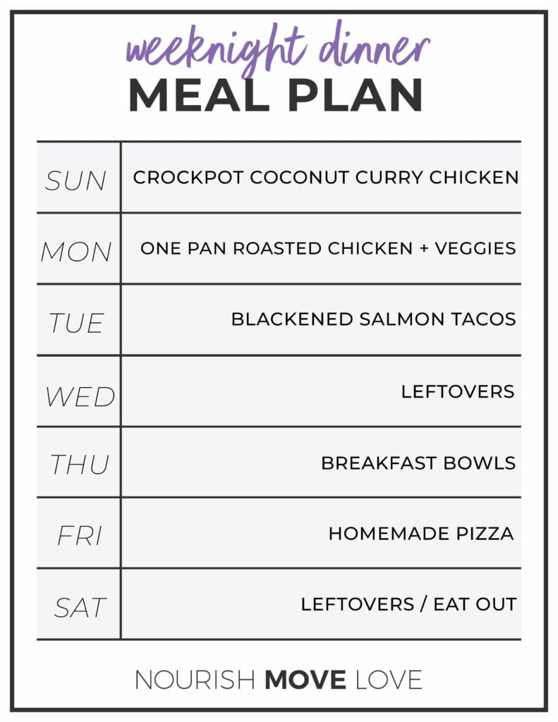 Weekly Meal Prep | Weekly Meal Plan | Meal Plan for Weight Loss | Weeknight Dinner Recipe Ideas