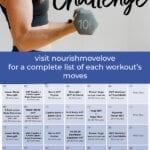 workout calendar for women