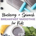 Blueberry and Spinach Breakfast Smoothie for Kids