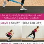 Exercise bands | lower body workout for women