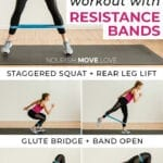 legs and thighs workout | exercise bands