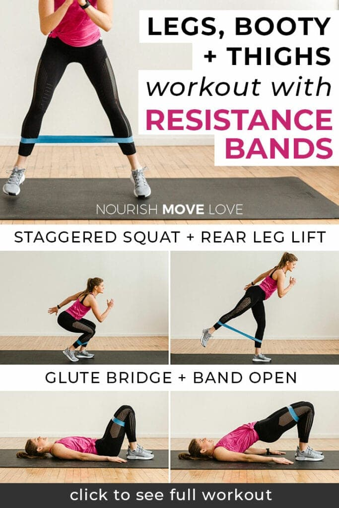 8 Best Leg Exercises With Resistance Bands Nourish Move Love