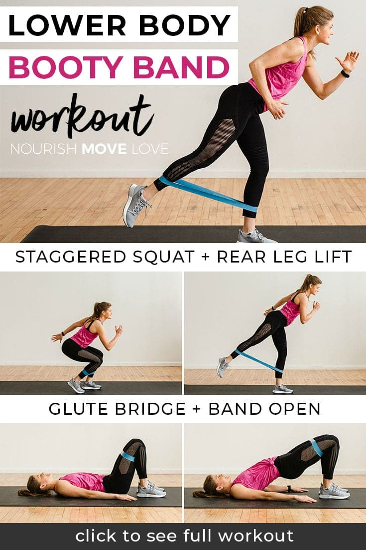 booty band workout for legs