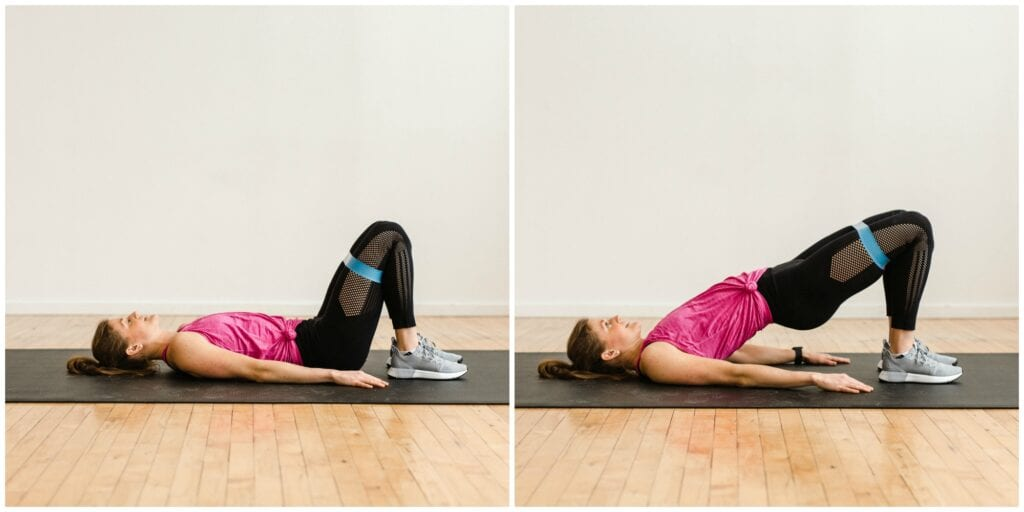 Glute Bridge Exercise with Resistance bands