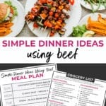 Simple Dinner Ideas Using Beef