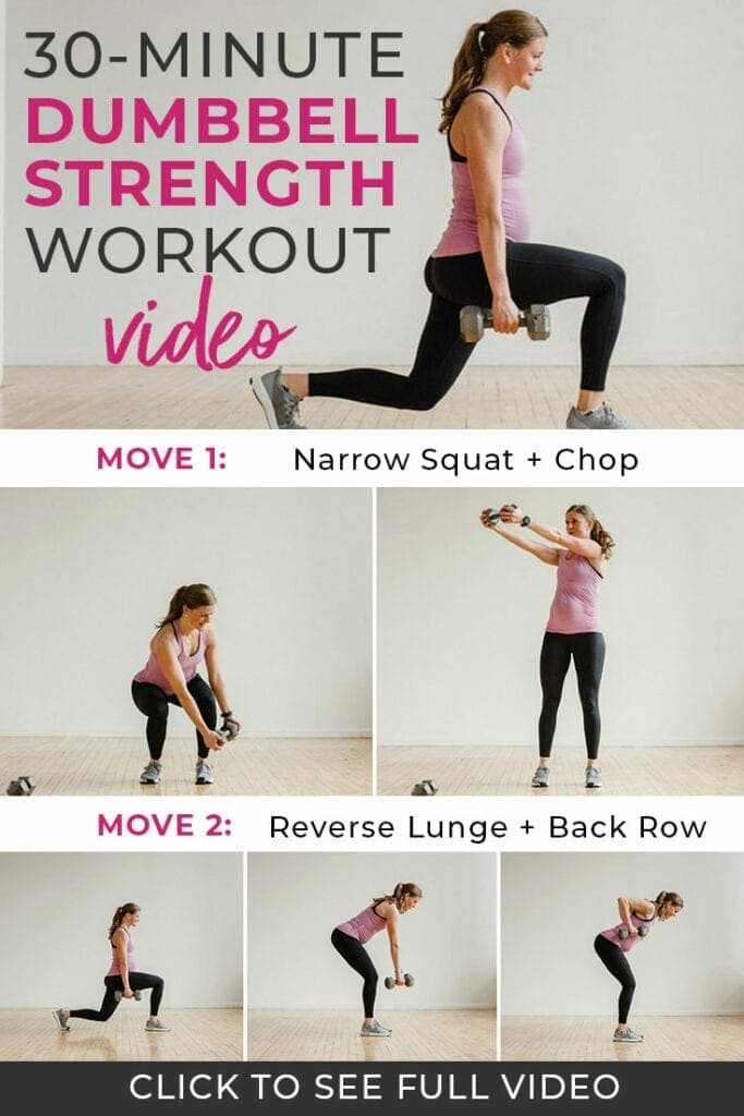 30 Minute Full Body Dumbbell Workout Video | Nourish Move Love