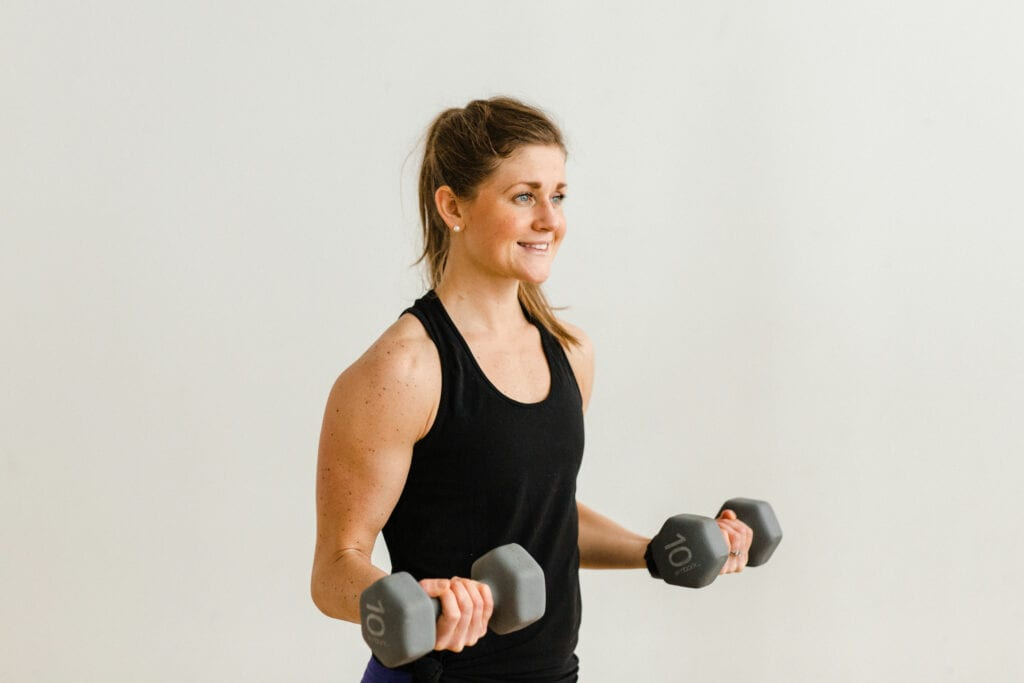 Arm Toning Exercises with Dumbbells Bicep Curl