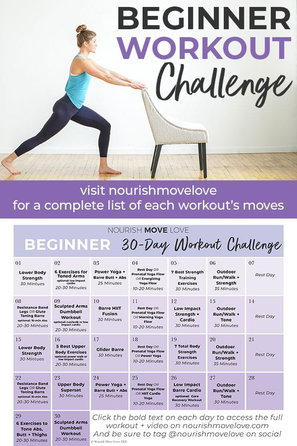 Beginner Workout Plan and Workout Calendar