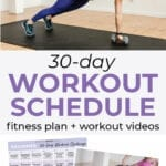 Workout Calendar | fitness plan