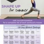 Beginner Workout Schedule and Workout Calendar