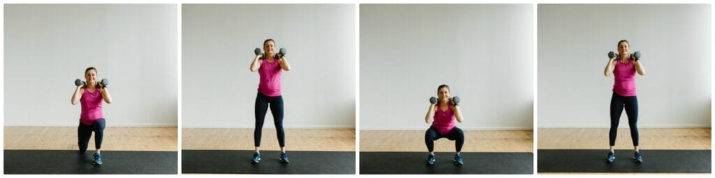 Front Rack Lunge and Squat Exercise