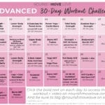 advanced workout calendar for summer