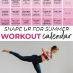 Advanced Workout Calendar | workout schedule
