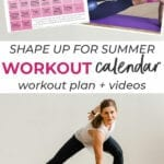 Workout Schedule and workout calendar | advanced