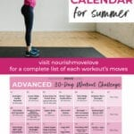Summer Shred Workout Calendar and Workout Schedule