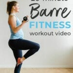 Barre fitness workout video | barre class