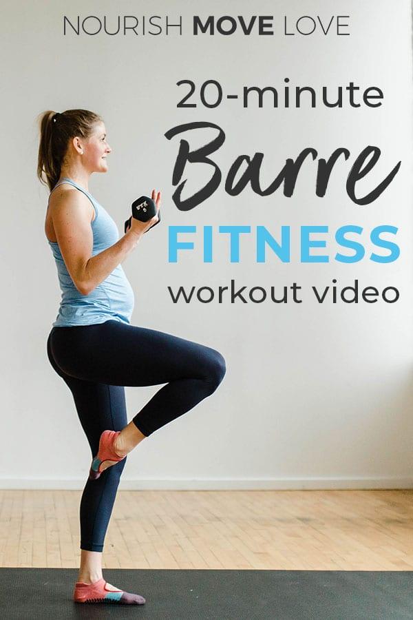 barre class workout video
