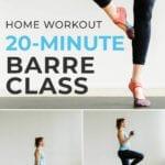 20-minute barre class | online barre class