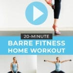 barre workout video | home workout | barre cardio