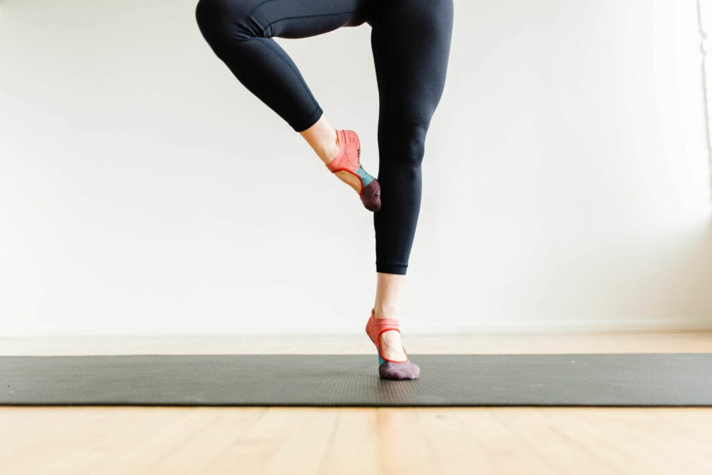 relevè   barre workout at home