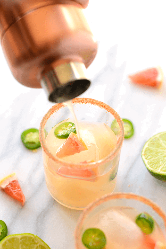 Spicy Grapefruit Margaritas | Mocktail Recipes