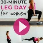 workout video | workouts for women | leg workouts for women