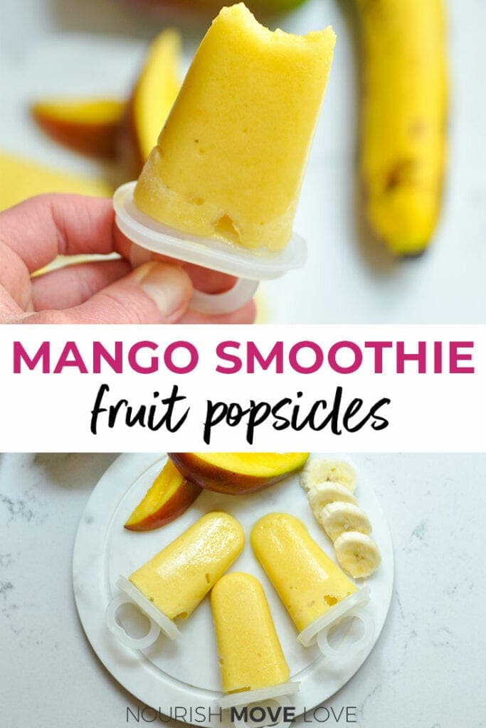 mango smoothie | fruit popsicles