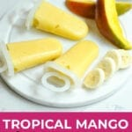 mango smoothie popsicle | fruit popsicles