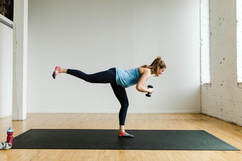 Barre Fitness Rear Leg Lift