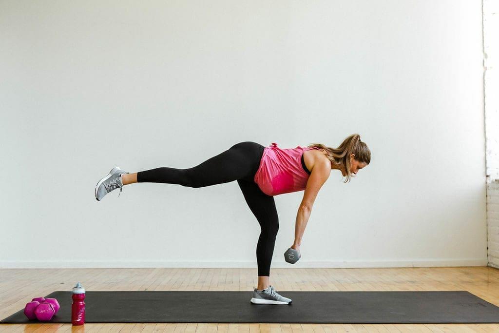 Single leg deadlift | leg day workout