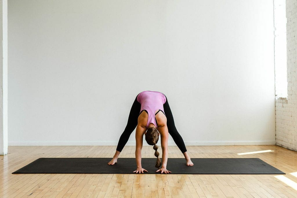 wide leg fold yoga pose
