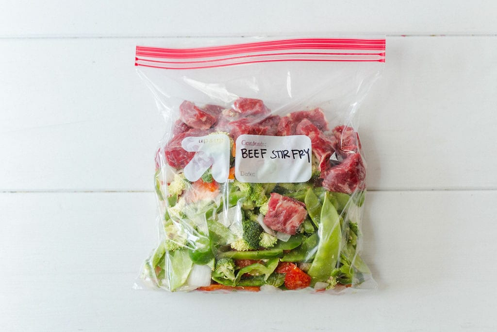 Beef Stir Fry Freezer Meal