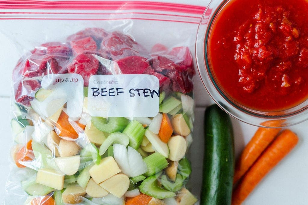 crockpot freezer meals: beef stew