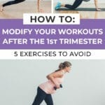 How to modify your workouts for pregnancy