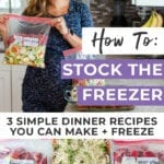 3 Freezer Meals to Make Before Baby