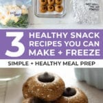 Healthy Snack Ideas | 3 snacks you can freeze