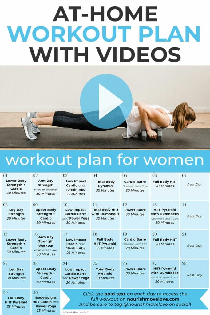 free home workout plan with workout videos