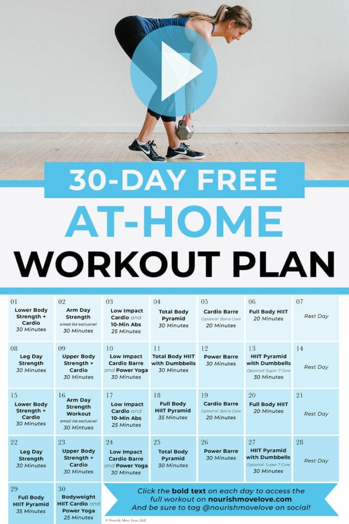 free at home workout plan for women