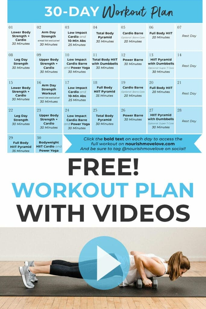 free home workout plan with videos