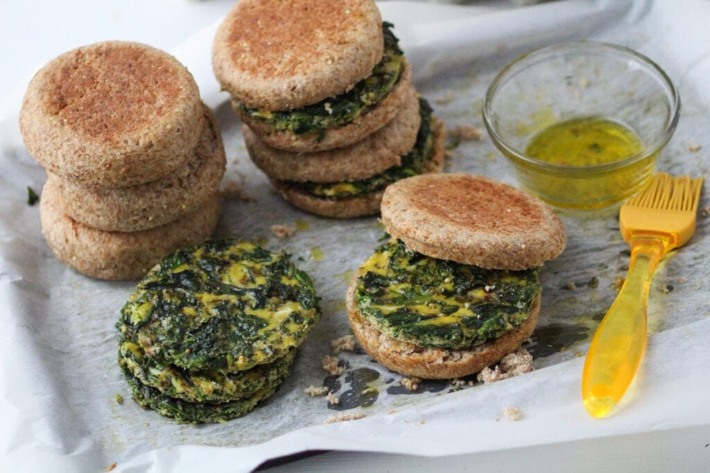 spinach and egg breakfast sandwich recipe