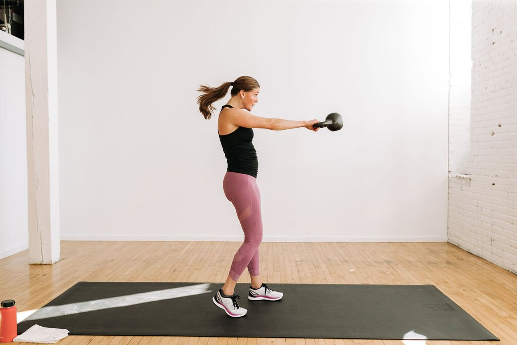 Staggered Kettlebell Swing