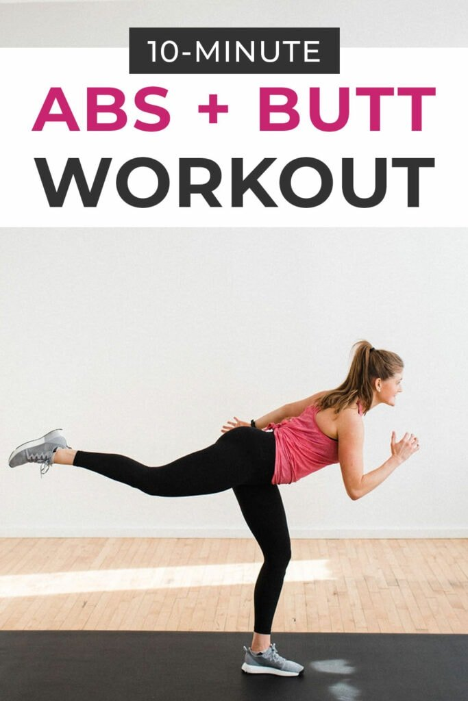 10 minute abs and butt workout
