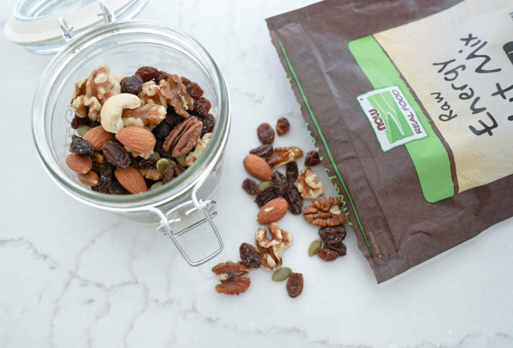 easy postpartum snack trail mix