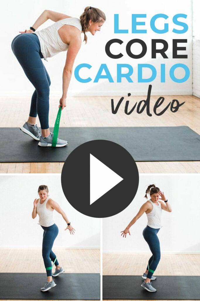 Leg workout with resistance band