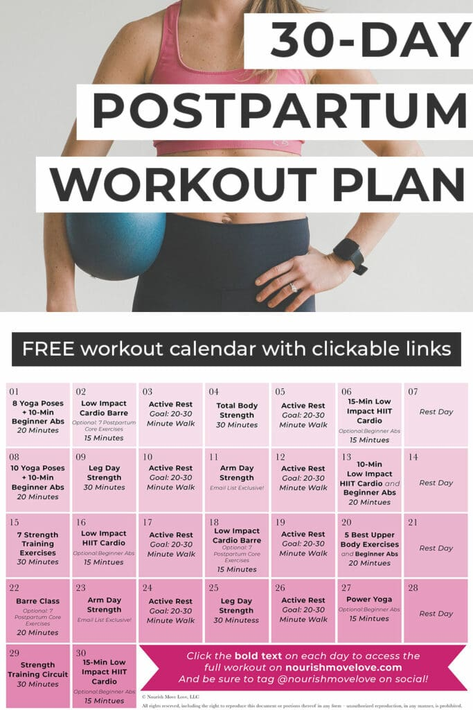 Free Postpartum Workout Plan
